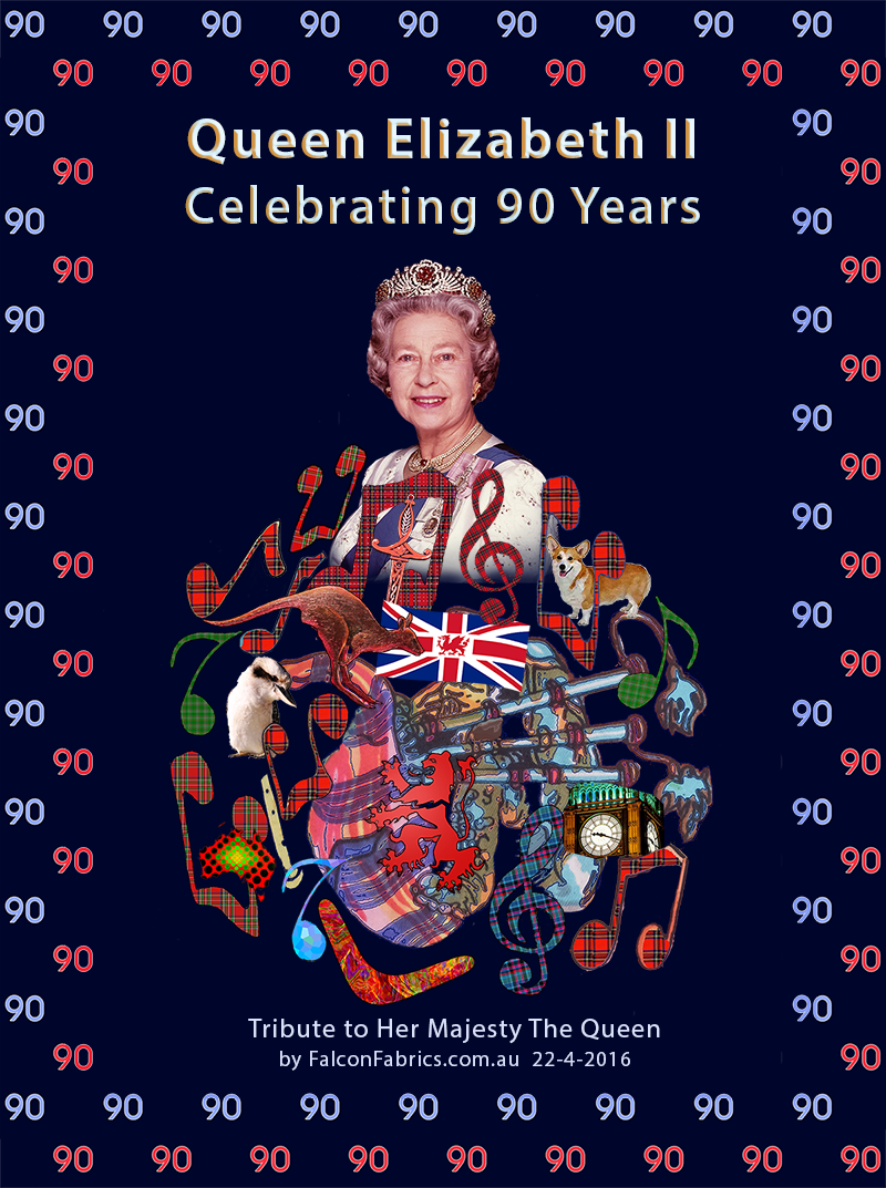 Queen Elizabeth II's 90th birthday on 22 April 2016