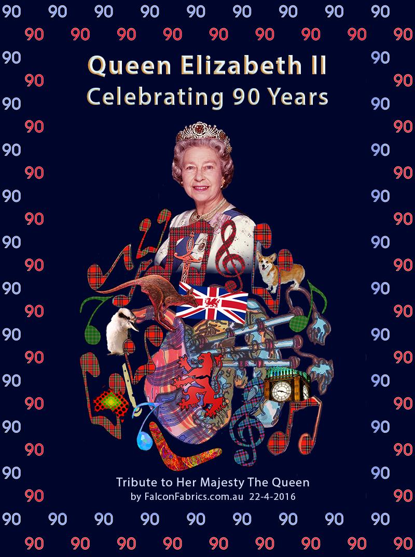 Queen Elizabeth II's 90th birthday on 22 April 2016