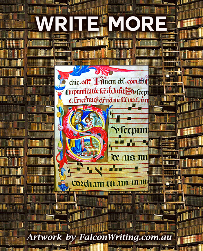Write More poster by Cliff Howard