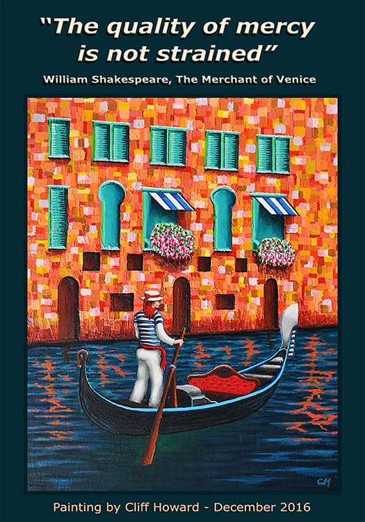 Painting of Venice by Cliff Howard 2016