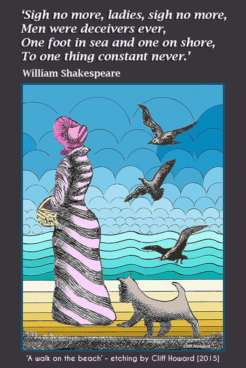 Shakespeare. Cliff Howard. Art. Etchings