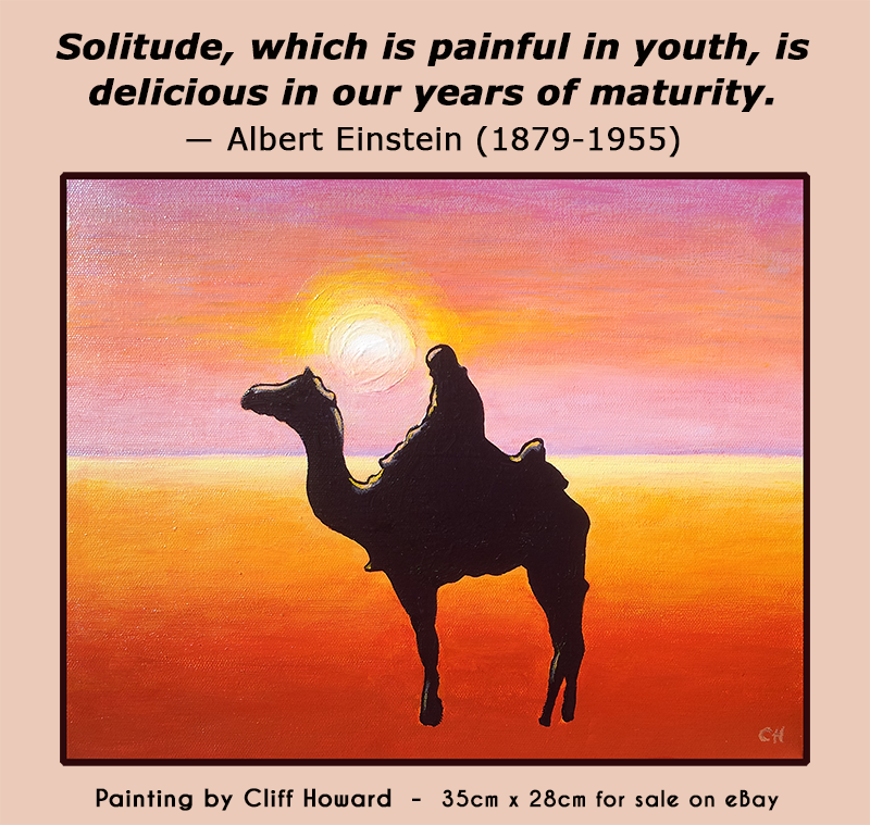 Tribute painting to Albert Einstein by Cliff Howard