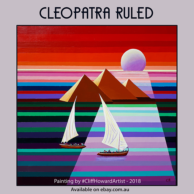 #CliffHowardArtist Cleopatra Egypt Nile art paintings FalconWriting