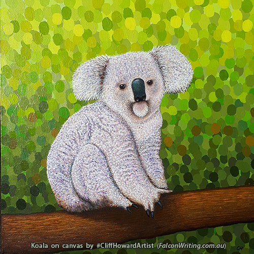 Painting of koala by artist Cliff Howard. #CliffHowardArtist #artwork #environment #conservation #animals #Australia
