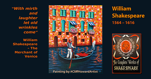 #Venice #gondola #Shakespeare #CliffHowardArtist #artwork #graphics #posters #logos