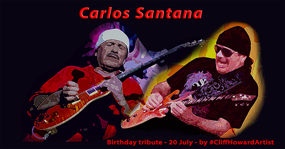 #CliffHowardArtist #artwork #design #posters #logos #music #Santana #art