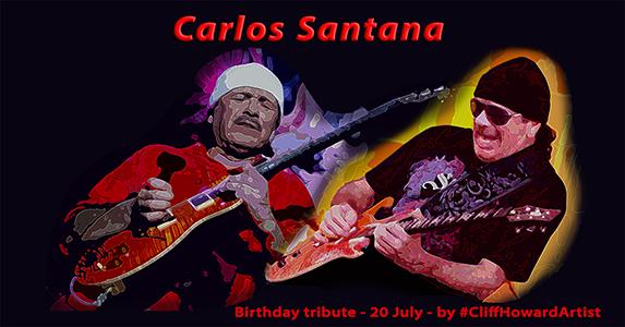 #CliffHowardArtist #artwork #design #posters #logos #music #Santana #art